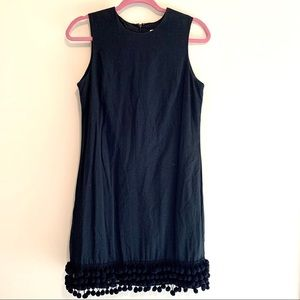 Isaac Mizrahi for Target Black Pom Fringe Dress